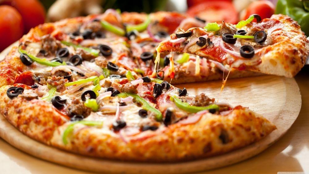 Pizza grande calabresa + portuguesa