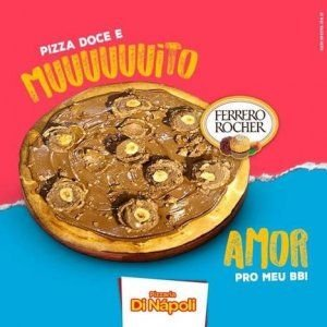 Pizza Broto Nutella com Ferrero Rocher