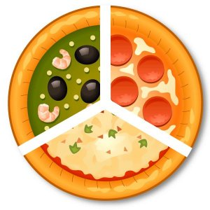 Pizza média c/ borda